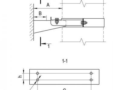 Кронштейн раздвижной №1 (430/1,0 мм)  Ф115