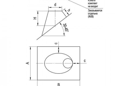 Крышная разделка угловая (430/0,5) Ф115