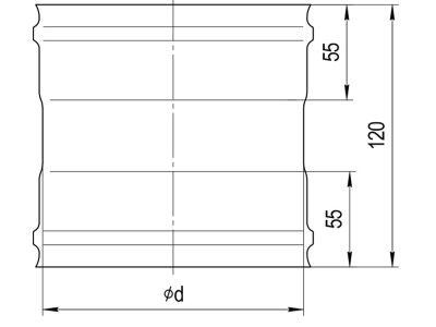Адаптер ММ (430/0,5 мм)  Ф115