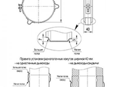 Хомут обжимной под растяжку (430/0,5 мм) Ф115