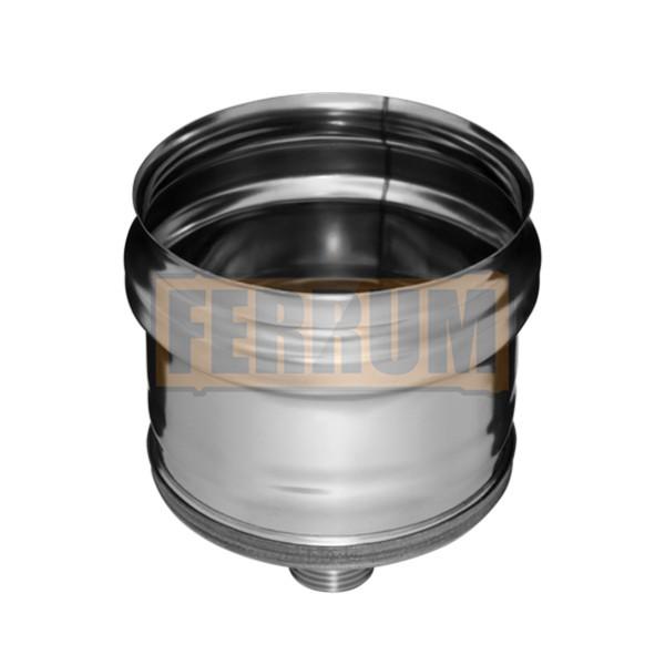Заглушка внешняя с конденсатоотводом (430/0,5 мм) ф120